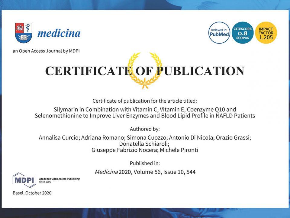 Publication Certificate MDPI medicina 56-00544